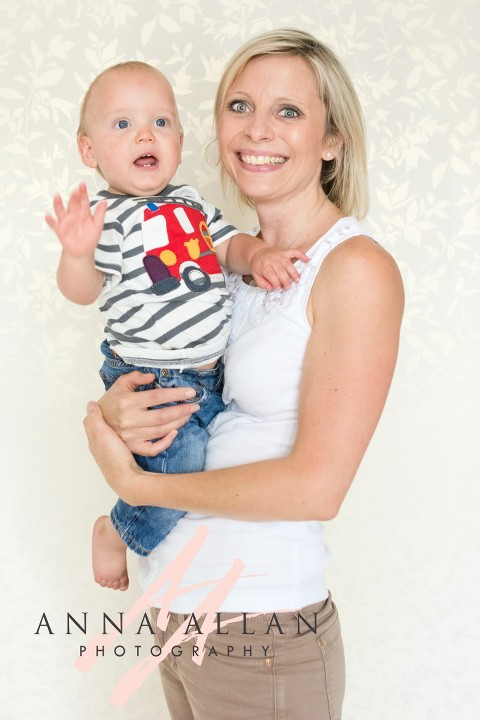 mother and baby boy photo shoot