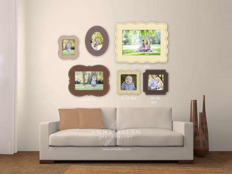 Organic Bloom Frames wall gallery design